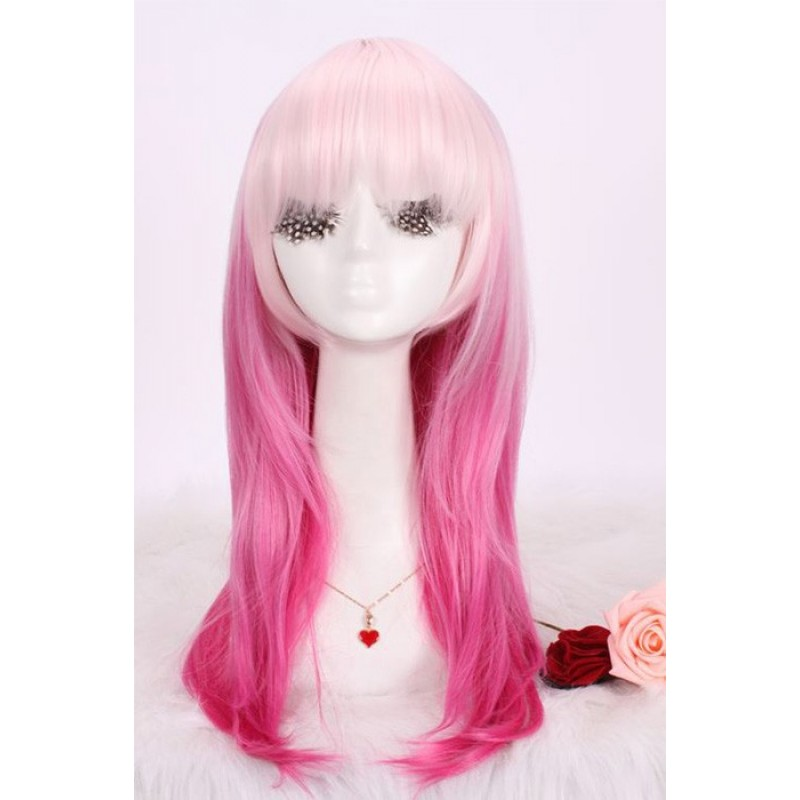 45cm medium pink+whi...
