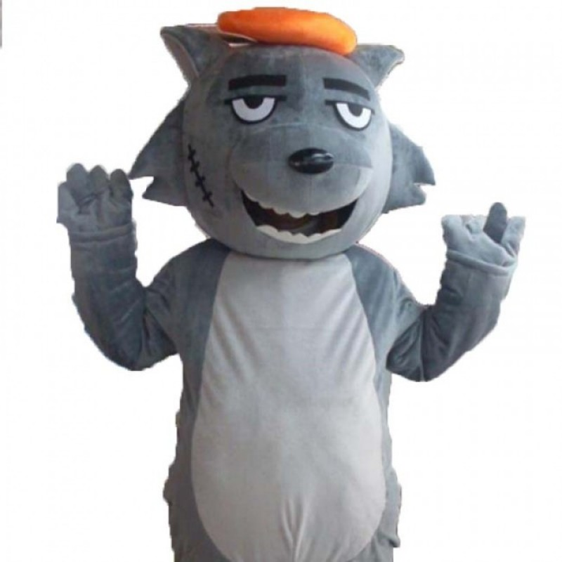 Grey Wolf Mascot Cos...