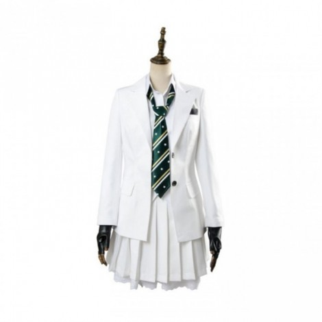 PUBG White School Outfit Girl Cosplay Costume