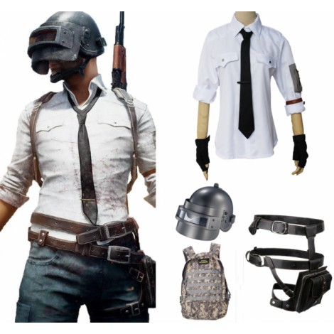 PUBG Outfits White Halloween Cosplay Costume
