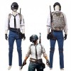 Top Level PUBG Cosplay Costume With Helmet & Backpack
