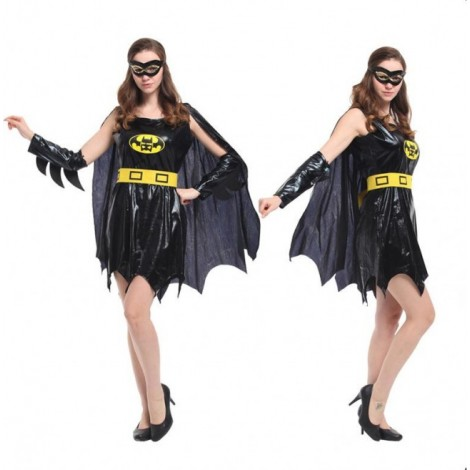 Black Batwoman Jumpsuit halloween Cosplay Costume