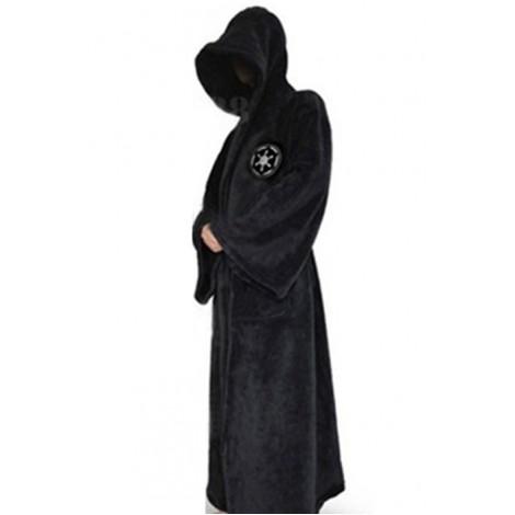 Star Wars Jedi Robe Black Coral Fleece Cosplay Costume MC00158