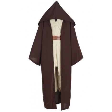 Star Wars Jedi Knight Anakin Suit Coffee Cloak Cosplay Costume  MC00155