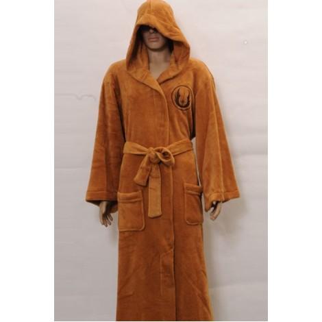 Star Wars Jedi Robe Brown Coral Fleece Cosplay Costume MC00156