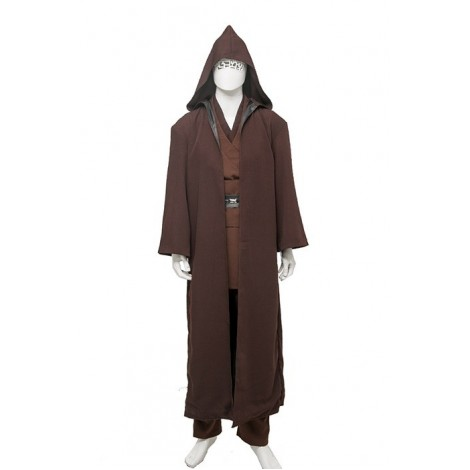 Star Wars Anakin Skywalker Brown Cosplay Costume Outfit MC00166