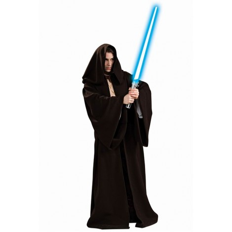 Star Wars Jedi Long Black Robe Halloween Cosplay Costume MC00153