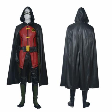 Teen Titans Damian Wayne Robin Halloween Cosplay Costume Full Suit