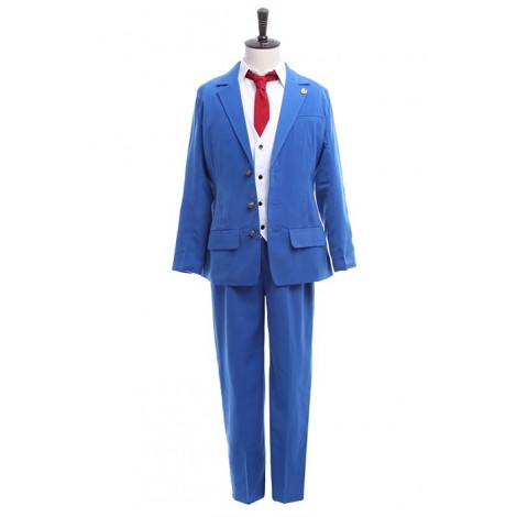 Ace Attorney Phoenix Wright Men Blue Suit Sets With Badge Cosplay Costumes AC00100