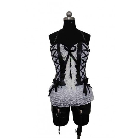 ZONE-00 Hime Shirayuri White Lace Cosplay Costume AC001158