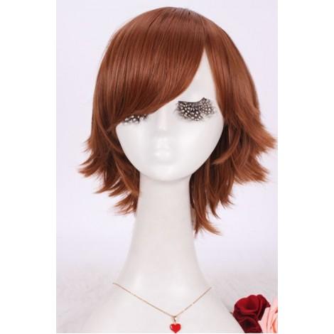 25cm short brown synthetic Japanese Anime Hitman Reborn men Cosplay full  hair  wig  AC001091