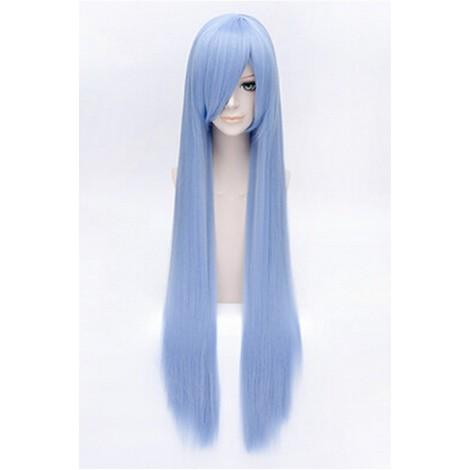 100cm Blue Straight Hitman Reborn Bluebell Cosplay Wig AC001095
