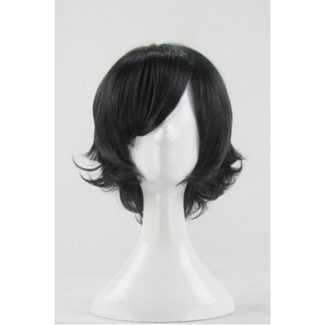 35cm Black Curly Hitman Reborn Ranbo Cosplay Wig AC001100