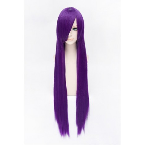 100cm Straight Purple Guilty Crown Shirakiin Riricho Cosplay Wig AC001017