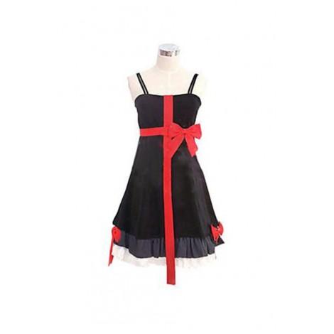 Guilty Crown Cosplay Costume Inori Yuzuriha Black Dress AC001010