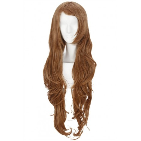 80CM Long Brown《CodeGeass》Nunnally V Britannia Cosplay Wig AC00974